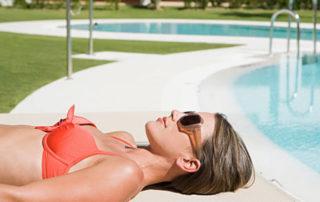 woman at pool Maui