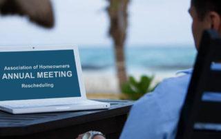 rescheduling HOA meetings
