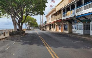 Empty Front Street Lahaina